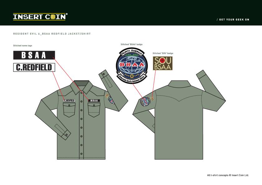 Resident Evil Bsaa Logo Bsaa Sou Shirt