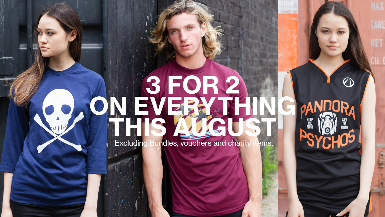 3 for 2 on everything - shop now
