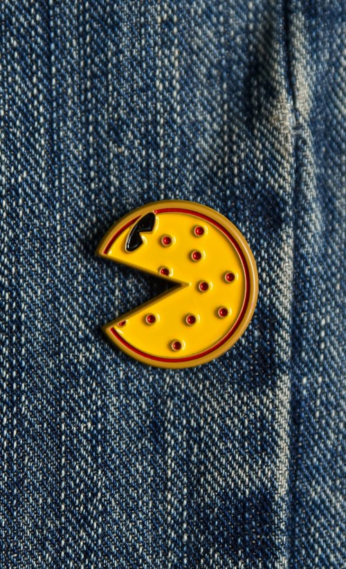 Pac-Man Pizza Enamel Pin