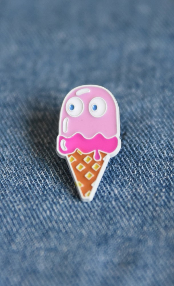 Pinky Ice Cream Enamel Pin