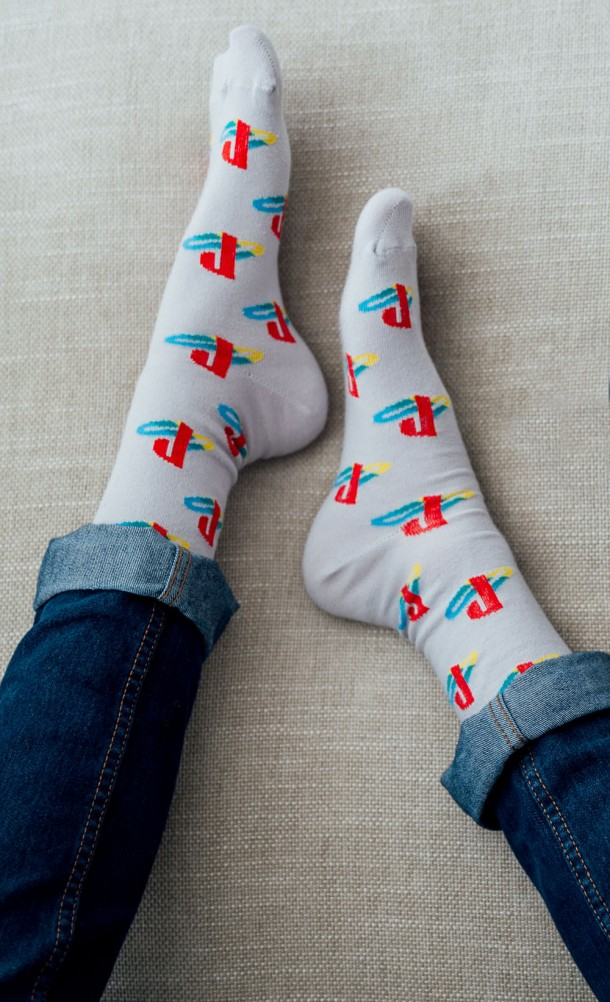 PS Retro Pattern Socks