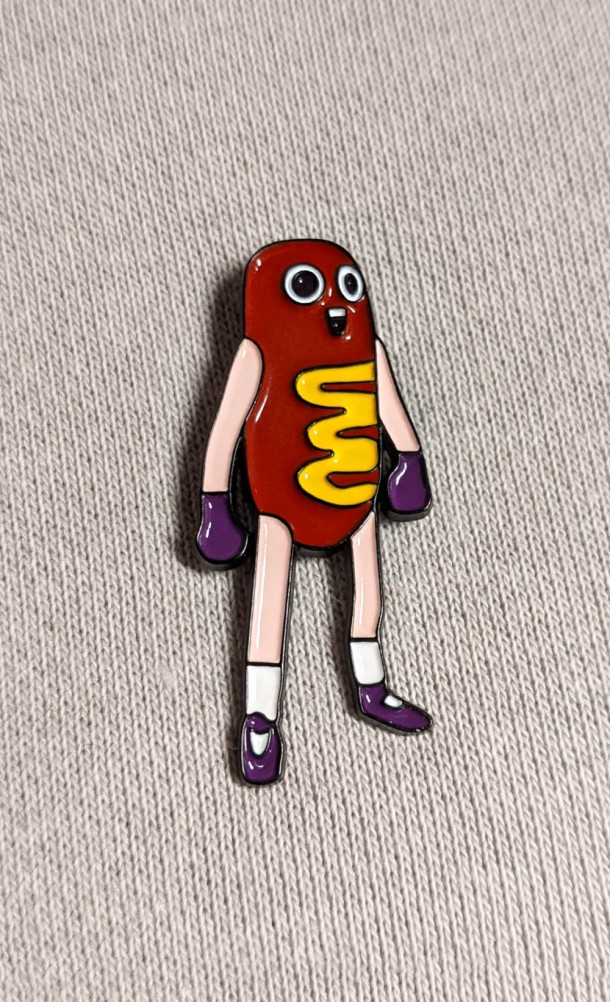 Hawt Dawg Man Enamel Pin